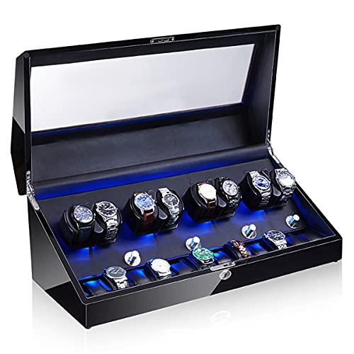 Caja Bobinado Automático Reloj Pulsera, Cajas Bobinadora Reloj, Bobinadora Reloj Motor Silencioso Mesa 8 + 0 Automática para El Hogar, Caja Presentación Almacenamiento Reloj Mecánico (Color : G)