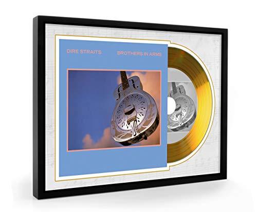 We Love Guitars Dire Straits Brothers In Arms Gold CD A5 EGA gerahmtes Display