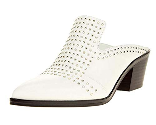 1.STATE Women's Lon Studded Slip-On Mule, White 6.5 B(M) US
