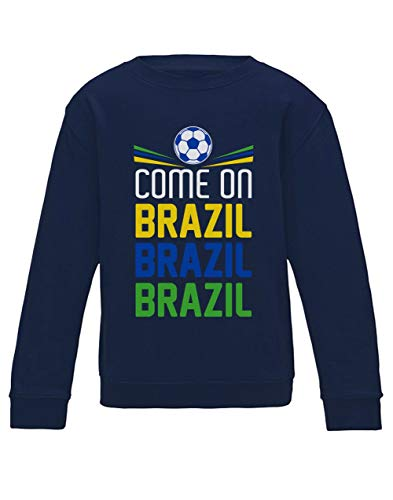 Green Turtle T-Shirts Sudadera para niños - Vamos Brasil - Apoya a la Selección Brasil en el Mundial de Fútbol!