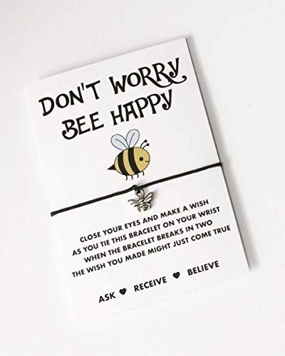Bee wish string! Don't worry bee happy bracelet!