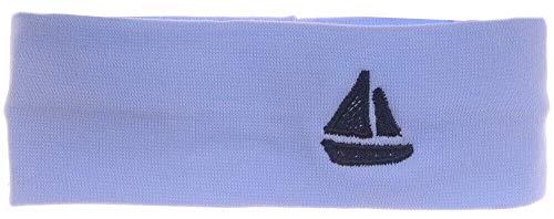 La Bortini Baby Kinder Haarband Stirnband Hairband Blau mit Schiff festlich sommerlich (KU 40-50cm.)