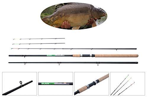 NECO 11079 Feeder Black Fish - Caña de pescar (fibra de
