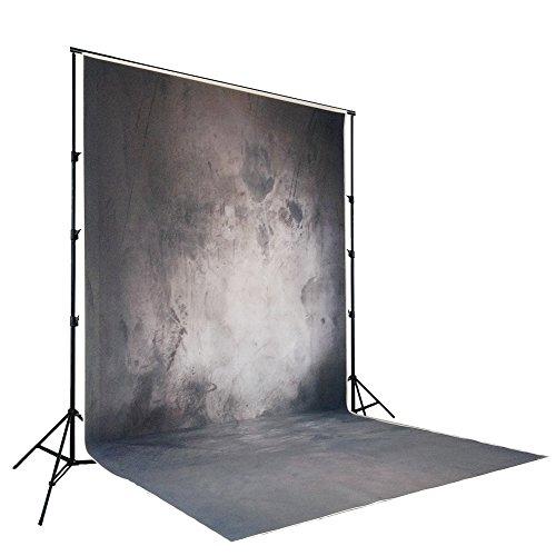 Telón de fondo para Studio Pictures NIVIUS PHOTO Resistente al agua y algodón lavable Fondo de poliéster para retratos Fotografías Fotografía Black Concrete Wall XT-3033(150x300cm SP)