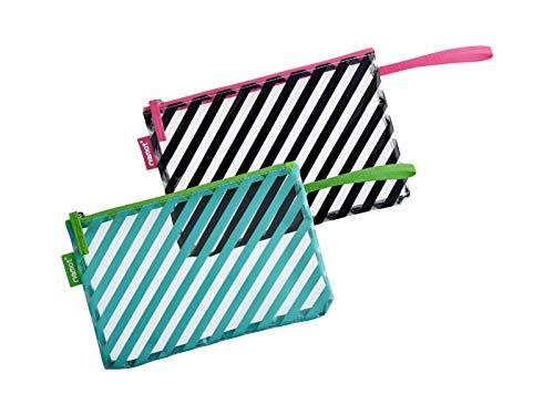 2 stks Toilettas Reizen Bagage Tas make-up Cosmetische Tas met Streep afdrukken voor Vrouwen Mannen & Kinderen Zomer Bikini Tassen Organiser