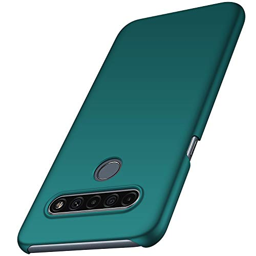 anccer LG K61 Hülle, [Serie Matte] Elastische Schockabsorption & Ultra Thin Design für LG K61 (Grün)