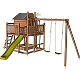 Soulet Aire de Jeux pour Enfant maisonnette avec portique - Cottage