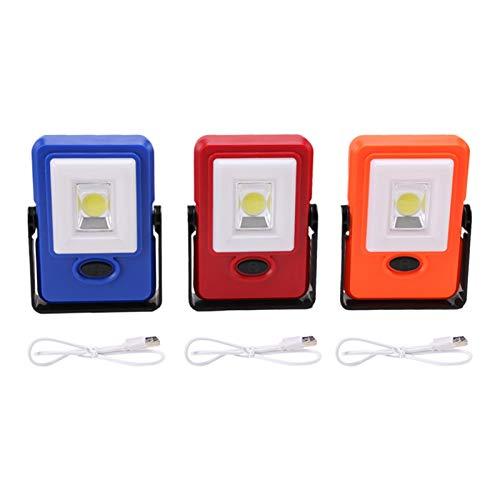 GZA Linterna de Trabajo LED UBS Power Bank Inspección Luz Mantenimiento Mantenimiento Mano de Mano Lámpara Linterna Linterna (Body Color : Orange)