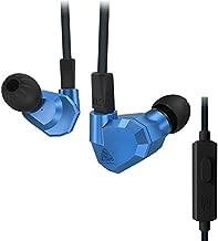 KZ ZS5 Dual Dynamic and Dual Armature 2DD+2BA Hifi In Ear Earphone (Blue with Mic)