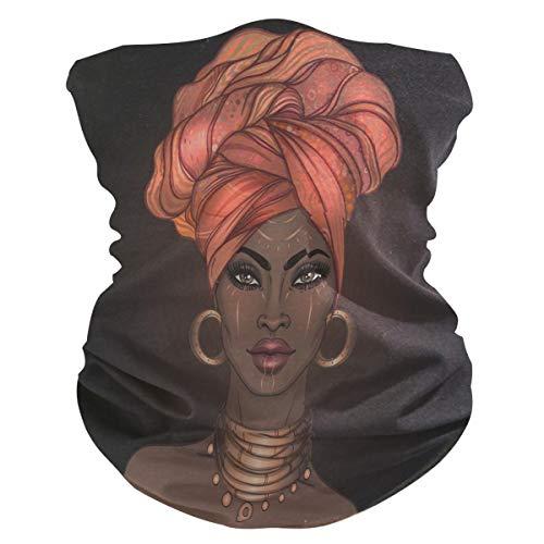 QMIN Bandeau Afro-Américain Femme Bandana Visage Soleil Protection Masque Cagoule Masque Cagoule pour Femmes Hommes Garçons Filles
