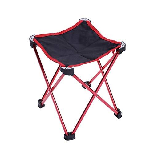 zhxinashu Mini Extérieur Chaise Pliante Portable - Pique Nique BBQ Banc Tabouret Pêche Siège(Rouge)