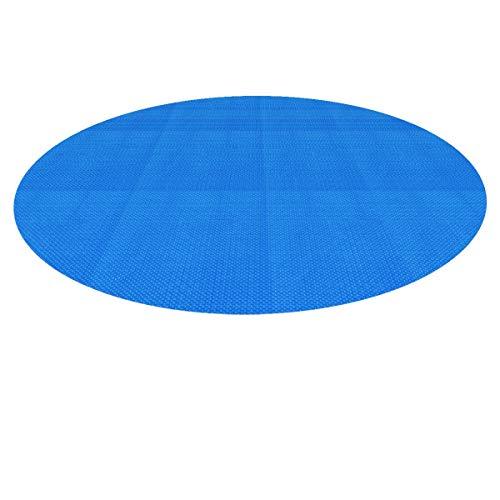 ECD Germany Pool Solarfolie Rund Ø 5 m 400µm Blau, PE Luftpolsterfolie, schnellere Wassererwärmung & geringere Wasserverdunstung, Pool Solarplane Solarabdeckplane Poolabdeckung Poolheizung Wärmeplane