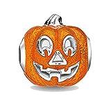 EVESCITY Jack O Lantern Calabaza Halloween Plata Bead para Charms Pulseras – Mejor joyería Regalos para Ella