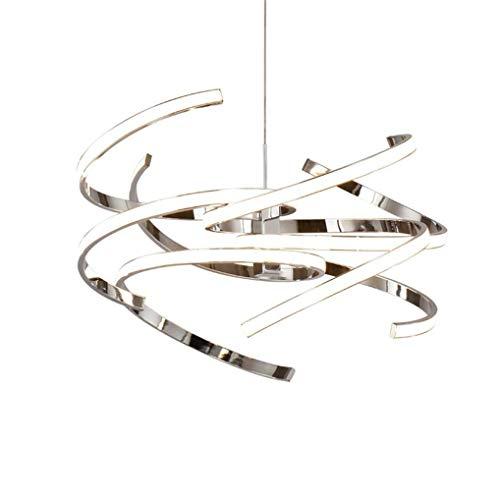 Iyom Elegante lámpara de iluminación de araña LED Lámpara Colgante de 55 vatios Diseño de Arte Moderno Lámpara Colgante de Metal de Aluminio Cromado Personalidad Creativa Dormitorio