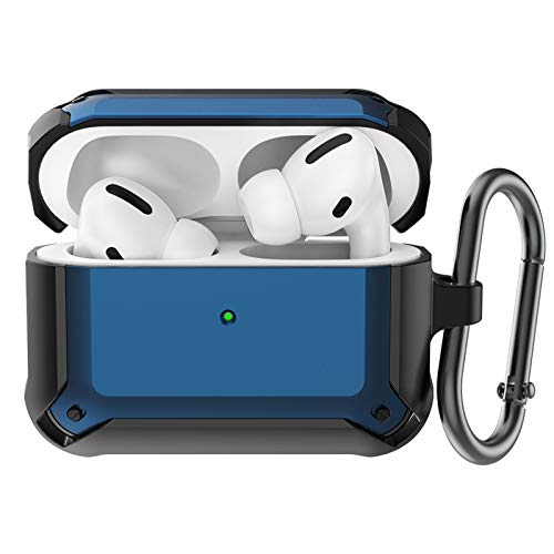 BRG AirPods Pro Case Cover Designed for AirPods pro, Full-Body Protective AirPod Pro Case with Carabiner for AirPods Pro Wireless Charging Case [Front LED Visible]