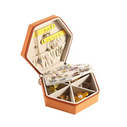 Caja de almacenamiento de joyería con cremallera tipo color a juego, aretes, aretes, caja de joyería, almacenamiento de escritorio, estante
