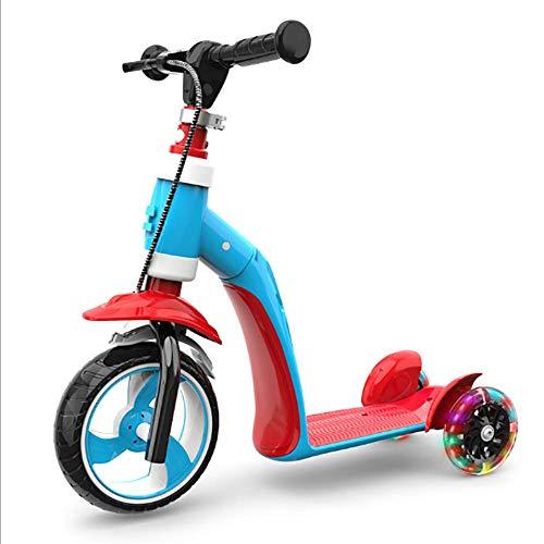 Z-SEAT Kinderroller Multi-Functio Dreirad 1-2-3 Jahre altes Spielzeug Flash Wheel Faltbares Design Höhenverstellbare austauschbare Teile