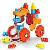 Mega Bloks- Cagnolino Pupù e Vai, con 15 Blocchi da Costruzione Giocattolo per Bambini 1+Anni, GNW63