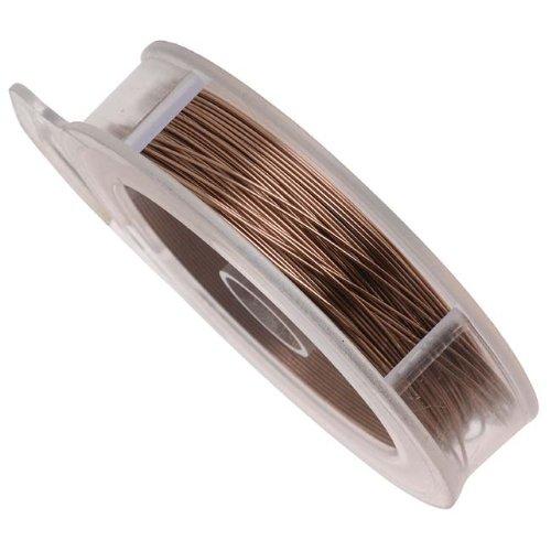 Fil en cuivre aspect laiton vieilli pour projets artistiques Calibre 24 – 18 Mètres
