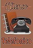 L'elenco telefonico: Una bella e grande rubrica telefonica, indirizzi, e-mail con lettere in ordine alfabetico