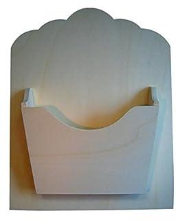 Medidas para Pintar greca Revistero de Madera para posar o Colgar En Crudo Ancho*Fondo*Alto : 40 * 18 * 43 cm.