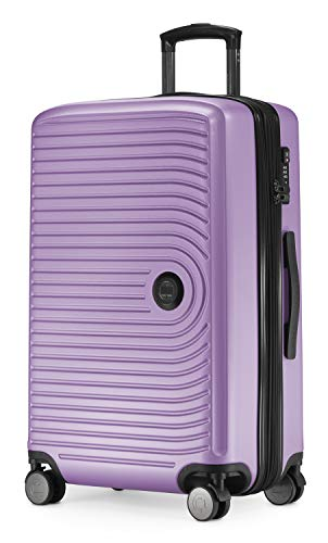 HAUPTSTADTKOFFER - MITTE - Medium Sized Hard Shell Suitcase, Expandable Check-in Luggage, TSA, 4 Double Spinner, 69 cm, 88 L,Lilac