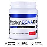 Modern BCAA+ The Better BCAA Amino Acids Supplements - Post Workout Muscle Recovery Powder Supplement Drink with Amino Acids - 30 Servings, Fruit Punch