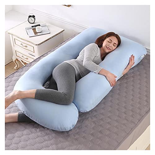 Cuscino Gravidanza J Cuscino da Forma per Le Donne Incinte per Dormire Supporto maternità Laterale a Parete (Color : Blue, Size : 70x145CM)