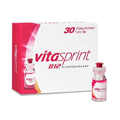 Vitasprint B12 Trinkfläschchen – Arzneimittel mit hochdosiertem Vitamin B12 und Eiweißbausteinen für geistige und körperliche Energie – 1 x 30 Trinkfläschchen
