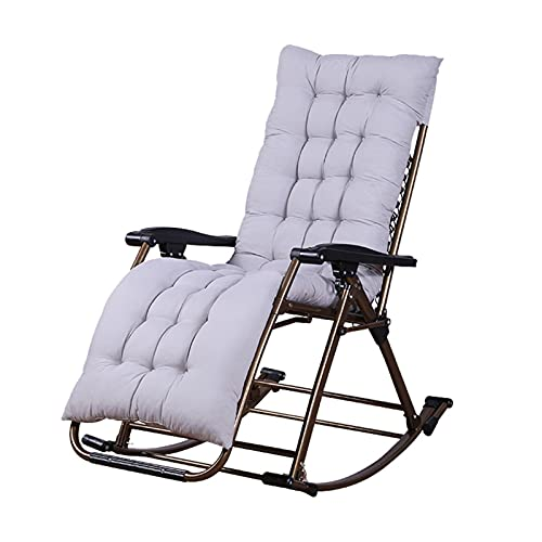 AHXF Comfortable Rocking Chair,Balcony Rocking Chair,Multifunctional Rocking Chair,Patio Rocking Zero Gravity Outdoor Folding Recliner Foldable Lounge Chair-Ergonomic—Stable Support With Four Legs