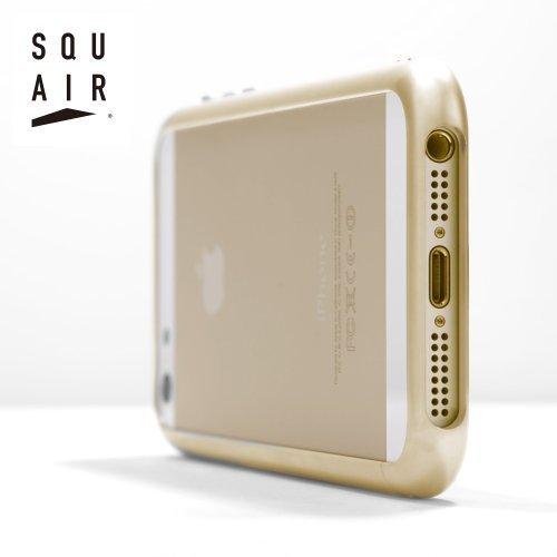 iPhone 5s / 5 専用 超々 ジュラルミン A7075 を 使った 金属製 アルミ バンパー | SQUAIRカービシャス バンパー ゴールド SQCVB500-GLD