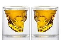 Material: Aus widerstandsfähigem, hitzebeständigem Borosilikatglas. Kristallklares Glasdesign lässt Getränke wie in der Luft schweben! Kapazität: 2 Totenkopf Gläser 250ml, leicht zu halten und sehr handlich.Nicht geschlossener Boden,Dual-Use-Produkt....