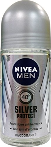 12 x NIVEA For Men Herren deo roll on Silver Protect 50 ml