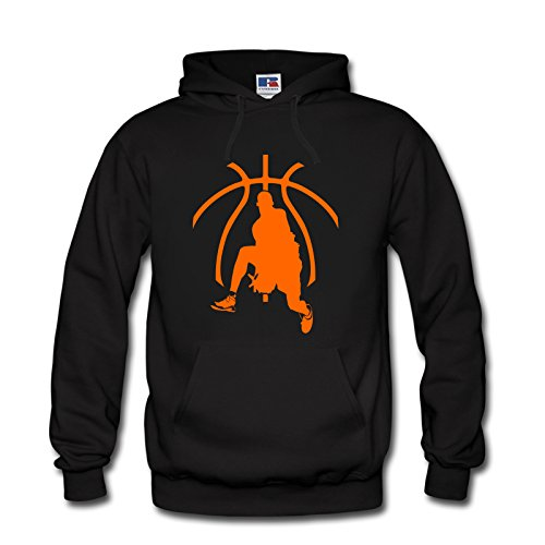 Hoodie Kapuzenpulli Basketball Sport Hobby Team S-3XL NEU (XL, Schwarz)