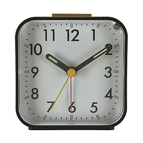 Wecker Analoge Alarme ABS Nicht tickend aufsteigender Piepton Reiseuhr mit Nachtlampe Sanftes Erwachen