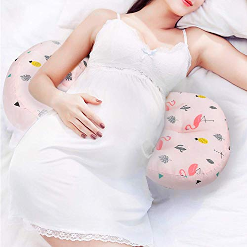 AIFUSI Pregnancy Pillow, Side Sleeper Maternity Belly Support Pillows Double Wedge for...