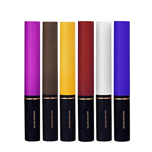 NNGT Lash Mascara Long Curling, 6 Stück/Set Color Mascara wasserdichte, lang anhaltende Make-up-Mascara zur Verlängerung des Curlings