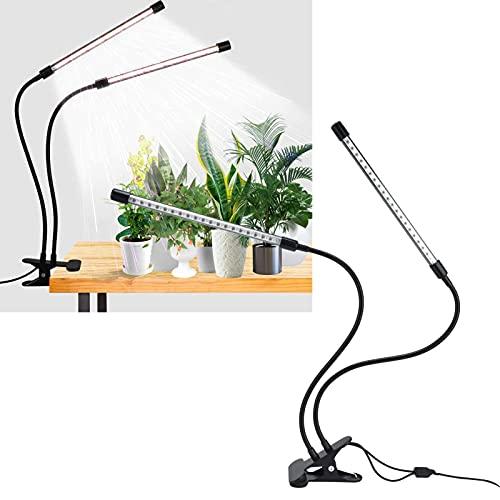 Chiwe Lámpara de Crecimiento Regulable, lámpara de Crecimiento de Plantas Ajustada automática con un Clip para la mayoría de Las Personas para Invernadero de horticultura Interior