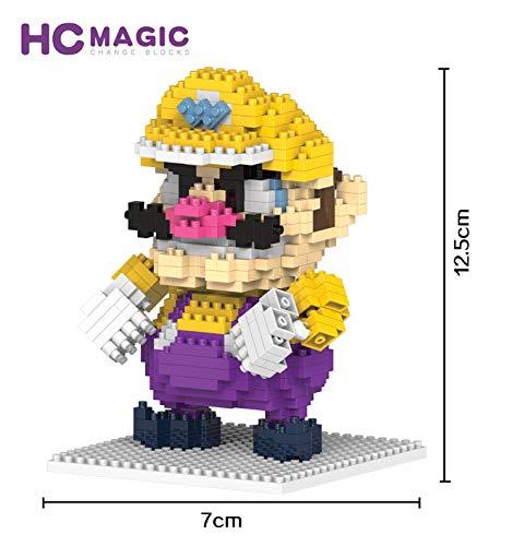 HC Magic Figura Malvado Mario Super Mario Bros Juego Bloques de construccion tamaño 10 - 12 cm DIY Mini Building Puzzle Juguete niños colección
