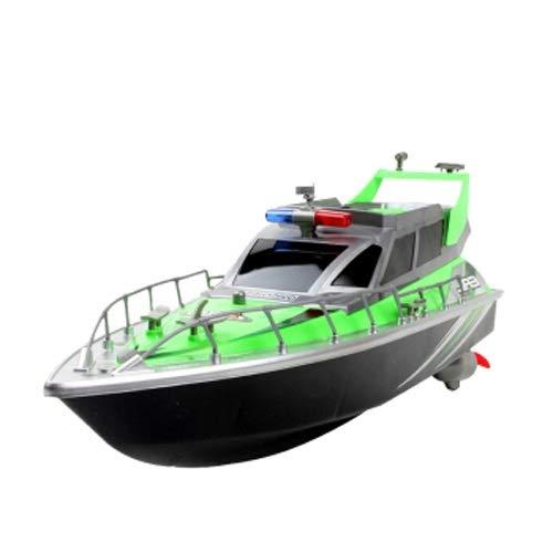 Lihgfw Fernbedienung Boot Modell Geschwindigkeit Boot Elektrische Boot Kinder Hochgeschwindigkeits-Angelspielzeug Boot Fernbedienung Boot Green Speed Boat (Nicht an Land bewegen) 43cm
