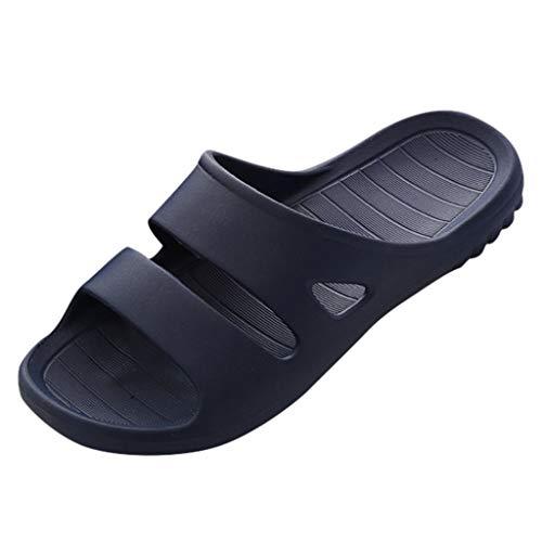 FRAUIT Heren badsandalen thuis vloer familie schoenen douche sandalen mannen slipvaste pantoffels sandelhout en trektochten
