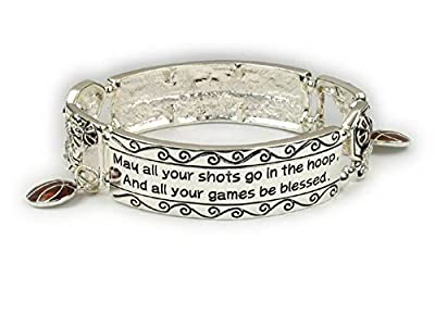 Red Rock Designs Basketball Bracelet: #1 for Basketball Player, Coach and Team. Why Purchase Another Basketball Trophy?