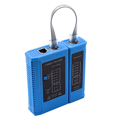 Network Cable Tester Ethernet Cable Tester RJ45 Cable Tester LAN Phone Line Tester for RJ45 RJ11 Cat5 Cat5e Cat6 Cat7
