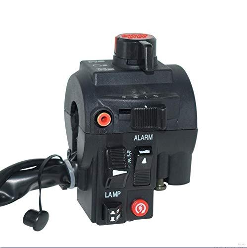 Universal de 7/8' 22mm Manillar de la Motocicleta interruptores de Alarma conmutador de luz de los Faros antiniebla Power Start Kill Asamblea Negro