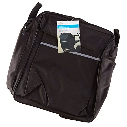 Homecraft Scooter Bag with Crutch or Walking Stick Pockets (Eligible for VAT Relief in the UK) Waterproof Wheelchair Mobility Bag with Multiple Compartments and Pockets for Storage, Elderly & Disabled