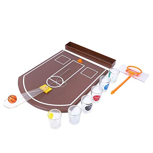 Akozon BasketBall Drinkspel Acryl Tafel Mini Innovatief Bordspel voor Bar Party Entertainment