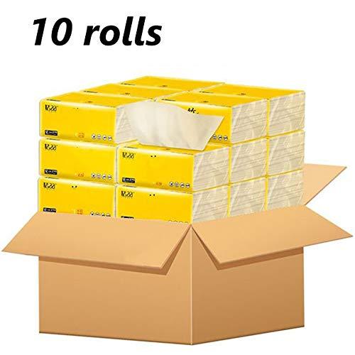10 Packs Bamboe Pulp Pompen Toiletpapier Beschikbaar Baby's Niet Geur Thuis Badkamer Keuken Accessoires Papier Huishoudelijke Weefsel Servet Family Pack Packs Primaire Kleur