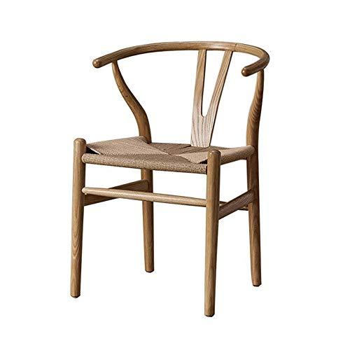 Sedia da pranzo in legno massello wishbone sedia Y sedia a forcella poltrona in rattan robusto sala da pranzo ufficio cameretta salotto casa soggiorno scandinavo legno di frassino colore naturale