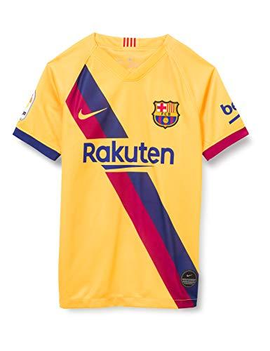 Nike Breathe FC Barcelona Stadium Away Camiseta, Unisex Niños, Varsity Maize/Varsity Maize, M