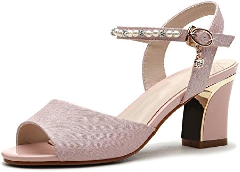 Ladies high Heeled Sandals, Rough Sandals, Summer Ladies high Heels.